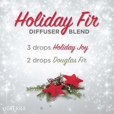 Holiday Fir Essential Oils Diffuser Blend ••• Buy dōTERRA essential oils online at www.mydoterra.com/suzysholar, or contact me suzy.sholar@gmail.com for more info.