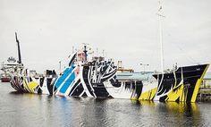 Every Woman: Dazzle Ship Scotland, Leith Port : Ciara Phillips Glasgow, Edinburgh, Riverside Museum, Installation Street Art, Jackson's Art, Naive Art, Art Festival, Art Blog, Contemporary Artists