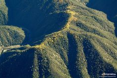 Another great Pictometry image: Leaves changing along a ridge line in Placer, CA.