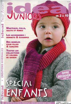 IDEAL JUNIORS N°9 - louloubelou Vi - Picasa Albums Web Crochet Book Cover, Crochet Books, Knit Crochet, Crochet Hats, Knitting Books, Knitting For Kids, Baby Knitting, Knitting Magazine, Crochet Magazine