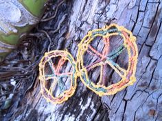 Brinco de Crochê Mandala Estrela / Earrings Crochet Star Mandala