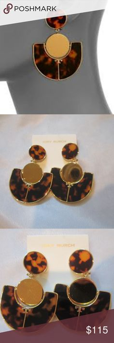 "Tory Burch NEW Animal Print Art Deco Earrings Gorgeous Tory Burch Animal Print Art Deco Earrings.  3"" x 2"".   Brand new. Tory Burch Jewelry Earrings"