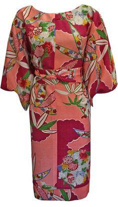 Paati Clouds Vintage Kimono Dress