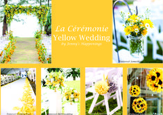 si vous rêvez d'un #mariage #solaire, sous les sunlights des #tropiques.... mais en Belgique (et oui!), le meilleur remède est une #décoration dédiée au #jaune ! Avec le #bleu clair, il vous donnera l'impression d'être déjà à la #plage :D Cette épingle est dédiée à la cérémonie. #jennyshappenings #weddingplanner #eventplanner