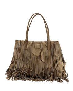 Roger Vivier Prismick Suede Fringe Shopping Tote Bag Fall 2015 Trendy  Handbags 581fe0f58432d