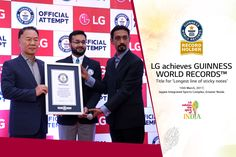 Another feather in the cap! With the the longest line of sticky notes, #LG makes it to the Guinness World Record. #KarSalaam