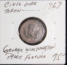 1863 Civil War Token Washington-Peace Forever F-118 418a