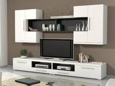 Home & Living Modern Tv Cabinet, Modern Tv Wall Units, Tv Cabinet Design, Tv Wall Design, House Design, Living Room Wall Units, Living Room Tv Unit Designs, Tv Unit Decor, Tv Wall Decor