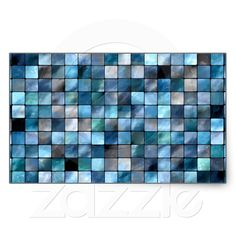 Blue Mosaic Of Tiles Stickers from Zazzle.com