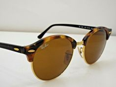 1816bc4354279 (eBay Ad) Authentic Ray-Ban RB 4246 1160 Tortoise Black Brown Clubround  Sunglasses