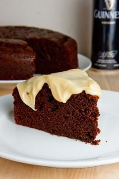 Chocolate Stout Cake with Bailey's Cream Cheese Frosting