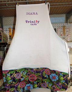 another colorful apron I just made for volunteering at Trinity Cafe