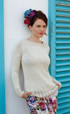 NEW ROWAN PATTERN BOOK S/S 2014: Truesilk Collection by Martin Storey - Solitaire - 9-14 skeins of Rowan Truesilk