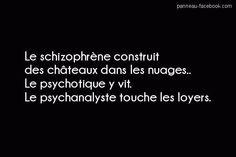 Schizophrène - Psychotique - Psychanaliste