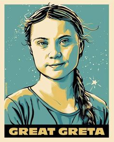 Artwork by ❤❤ . Revolution Poster, Foto E Video, Photo And Video, Greta, Gcse Art, Environmental Art, Women In History, Climate Change, Girl Power