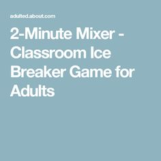 Mixer: Classroom Ice Breaker Game for Adults Team Building Icebreakers, Classroom Icebreakers, Icebreaker Activities, Class Activities, Ice Breaker Games For Adults, School Items, Ice Breakers, Brain Breaks, Adult Games