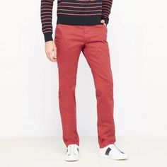 Pantaloni de bărbați R ESSENTIEL             - cărămiziu