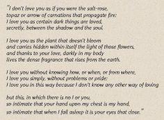 Sonnet XVII by Pablo Neruda