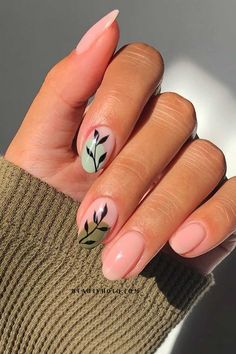 Round Nail Designs, Short Nail Designs, Acrylic Nail Designs, Nice Nail Designs, Gel Nail Polish Designs, Acrylic Nails, Coffin Nails, Gel Polish, Classy Nails