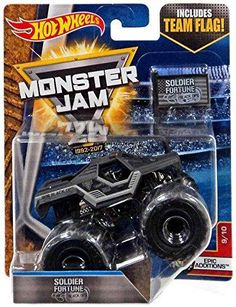 Hot Wheels Monster Jam Truck 1:64 Scale Soldier Fortune Black Ops 9/10