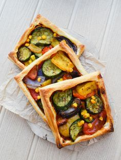 Easy Mediterranean Tart (use vegan puff pastry)