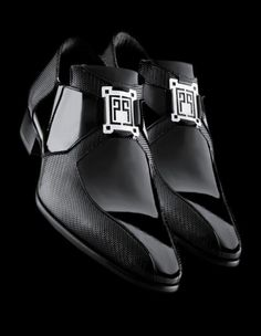 ♂ Black shoes carlo pignatelli showroom milano