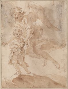 Baroque at Teylers — Teylers Museum Gian Lorenzo Bernini, Italian Sculptors, Angel Warrior, Grisaille, Human Soul, Renaissance Art, Old Master, Figure Drawing, Fresco