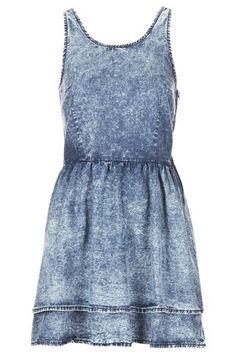 MOTO Acid Denim Dress - Dresses  - Clothing