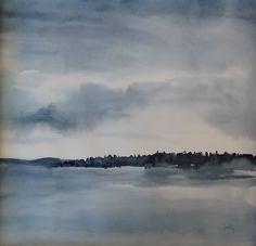 sandysign | Petit matin sur le lac Léman Clouds, River, Outdoor, Lake Geneva, Watercolor Artists, Watercolor Painting, Outdoors, Outdoor Living, Garden