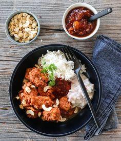 KYLLING TIKKA MASALA MED RAITA 2.0   TRINES MATBLOGG Tandoori Masala, Garam Masala, Chicken Tikka Masala, Frisk, Tandoori Chicken, Curry, Cookies, Ethnic Recipes, Food