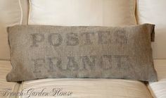 antique pillows | Frenchgardenhouse: Weekly Favorites Antique French Grainsack Pillows