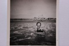 Sheila Cornall, Tom's eldest daughter in shallow water at Morphou Bay, Cyprus, August 1957