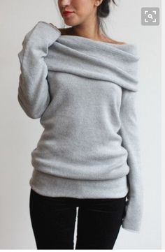 I would live in this sweater! Want! Cashmere grey sweater stitch fix inspiration fall and winter 2016