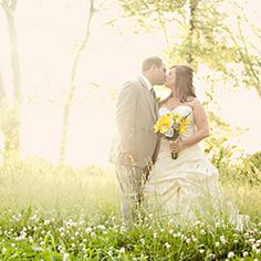 A rustic yellow and teal Kentucky farm wedding by Chris and Adrienne Scott Photographers.