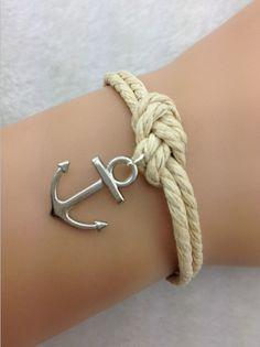 3 pcs pulsera de anclaje, amarres cuerda pulsera, fabuloso brazalete de la marina, nudo infinito, de un amigo 1836 de regalo orden mí...