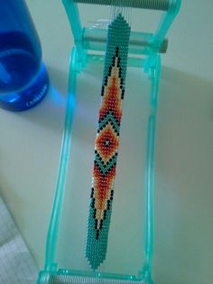 Loom beaded bracelet by Anna Eby, now on etsy! https://www.etsy.com/listing/185407778/native-american-loom-beaded-bracelet?ref=sr_gallery_4&ga_search_query=Native+American+loom+beaded+bracelet&ga_ship_to=US&ga_search_type=all&ga_view_type=gallery