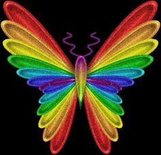 Rainbow Butterfly, Love Rainbow, Taste The Rainbow, Butterfly Art, Over The Rainbow, Rainbow Colors, Vibrant Colors, Butterfly Wallpaper, Butterfly Kisses