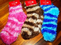 fuzzy socks - it's the little things in life that makes me happy!