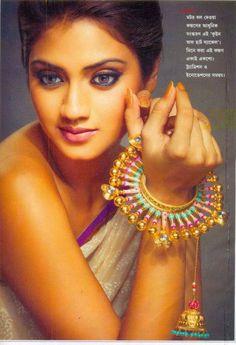 Tollywood actress Nusrat Jahan endorsing Amrapali Jewellery.