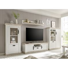 Wohnwand Caroline House of Hampton Country Modern Home, Country Style Homes, Interior Design Examples, Grey Kitchen Designs, Tv In Kitchen, Muebles Living, Tv Storage, Living Room Inspiration, House Rooms