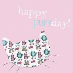 pinkshoesart: Happy birthday card