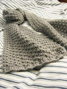 "A pinner says, ""Eton's Scarf knitting pattern..simple pattern even for a small throw, or baby blanket"