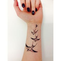 Swooping Swallows + Bird Tattoo + Inked + Micro + Small | @rosajoevannoy ☪