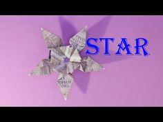 5 dollar origami star gấp ngôi sao 5 cánh bằng tiền | origami money - Sáng tạo xanh Ninja Star, Dollar Origami, Origami Stars, Youtube, Money, Blog, Silver, Blogging, Youtubers