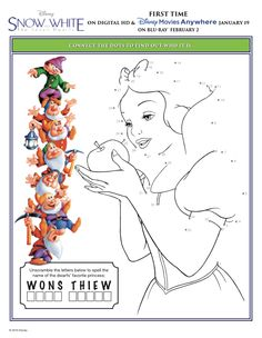free snow white printables free snow white activity sheets free disney princess worksheets - Disney Princess Activities