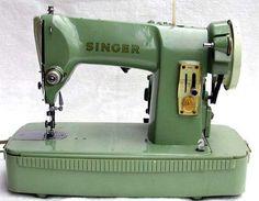 Vintage Singer 185K Sewing Machine With Case rubee55