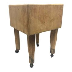 Butcher Block Tables, Butcher Block Island, Butcher Blocks, Solid Wood, 1950s, French, The Originals, Pinterest Marketing, Media Marketing