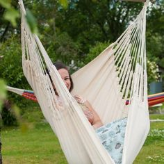 Knit Hanging Chair - Ecru - Small