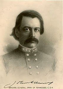 Confederate Brigadier General John Adams was one of six Confederate officers killed November 30th 1864 during the Battle of Franklin.