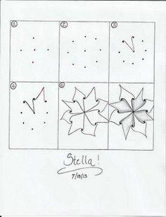 Zentangle pattern - Stella | by ronniesz